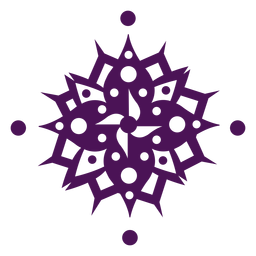 Violeta indiano de símbolos de mandala