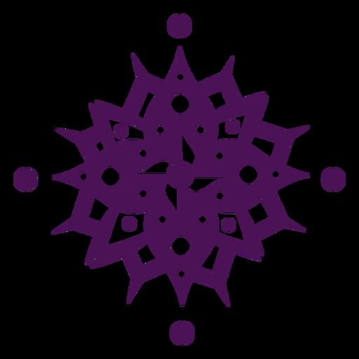 Símbolos de mandala violeta indio
