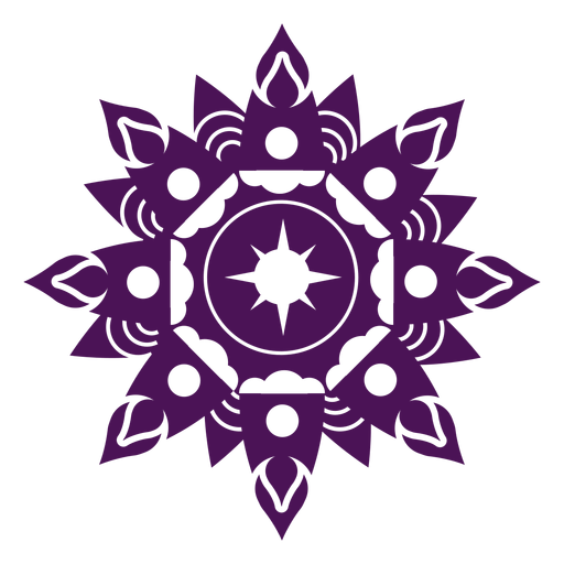 Mandala diwali violet Transparent PNG