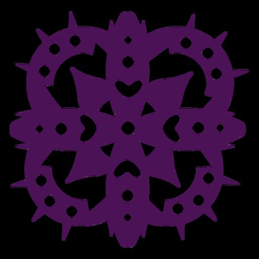 Símbolos de mandala violeta