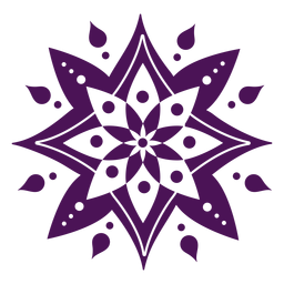 Mandala símbolos de color violeta