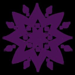Mandala símbolos violeta cor