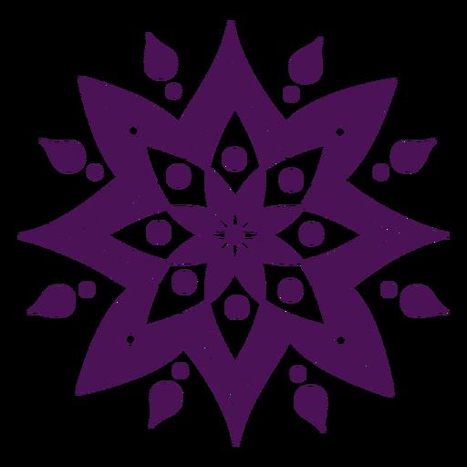 Símbolos de mandala color violeta