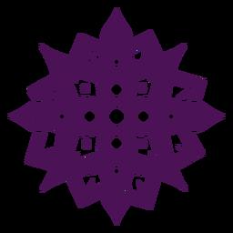 Mandala símbolos índia violeta