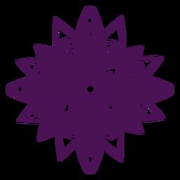 Símbolos de mandala violeta diwali