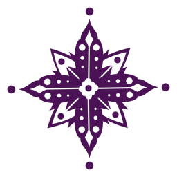 Mandala símbolos violeta india