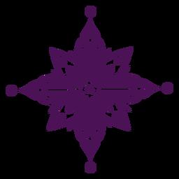 Mandala Symbole violett Indien