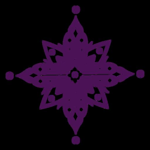 S?mbolos de mandala violeta india