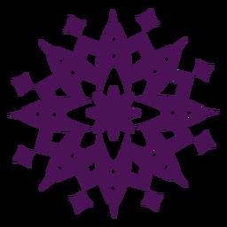 Mandala símbolos violeta redondo