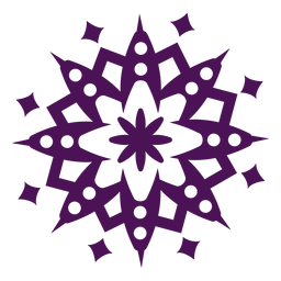 Mandala Symbole violett rund