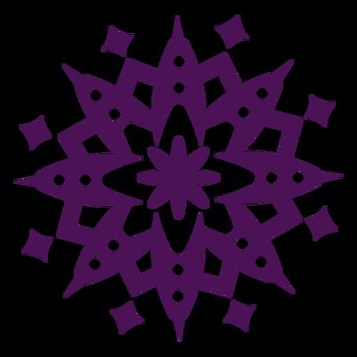 Mandala symbols violet round