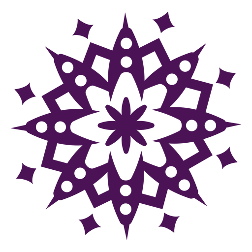 S?mbolos de mandala violeta redondo