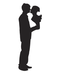 Married couples silhouette