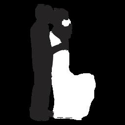Silueta de parejas casadas