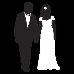 Parejas casadas silueta matrimonio
