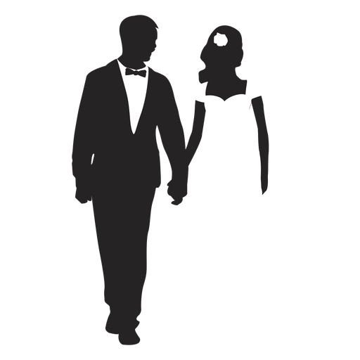 Married couples silhouette marriage