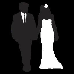Casamento de silhueta de casais