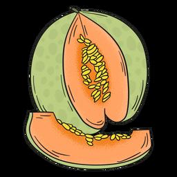 Frutas detalhadas de melão