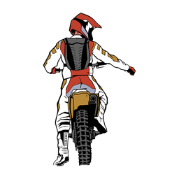 Motorcyclist character