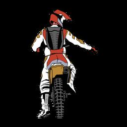 Personaje motociclista
