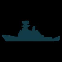 Navios da marinha com silhueta de navio verde