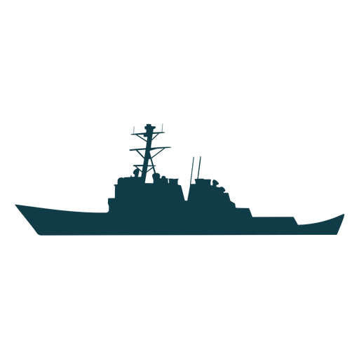 Los barcos de la marina de guerra silueta barco verde