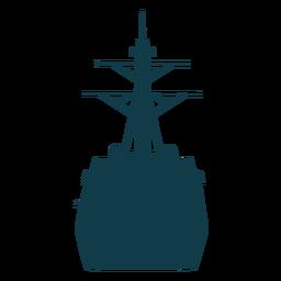 Navy ships silhouette ship