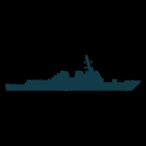 Buque de silueta de buques de la Armada