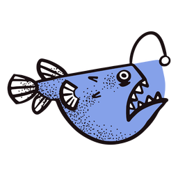 Peixe pescador do oceano