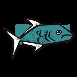 Pez azul marino