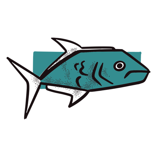 Ocean blue fish Transparent PNG