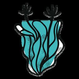 Planta de recife azul oceano