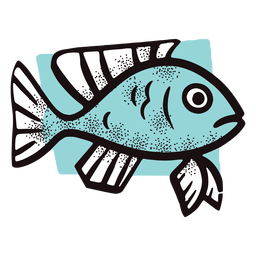 Ocean cartoon fish