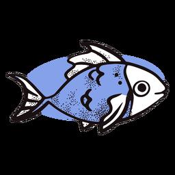 Peixe bonito do oceano