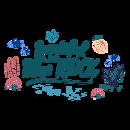 Océano letras azul rock
