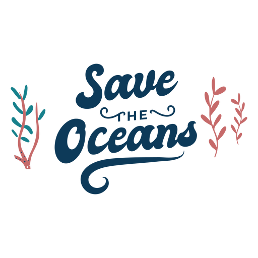 Ocean lettering save the oceans