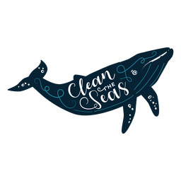 Ballena de letras oceánicas