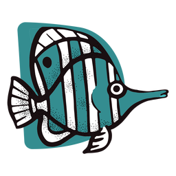 Ocean striped fish