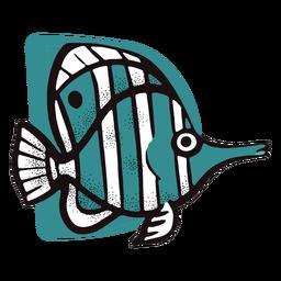 Peixe listrado do oceano