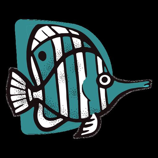 Pescado rayado del océano Transparent PNG