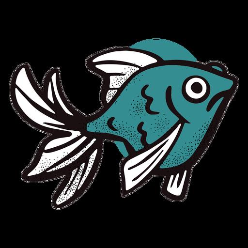 Pez azul trazo del océano Transparent PNG