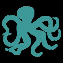 Octopus silhouette octopus