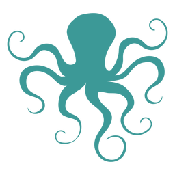 Octopus silhouette green