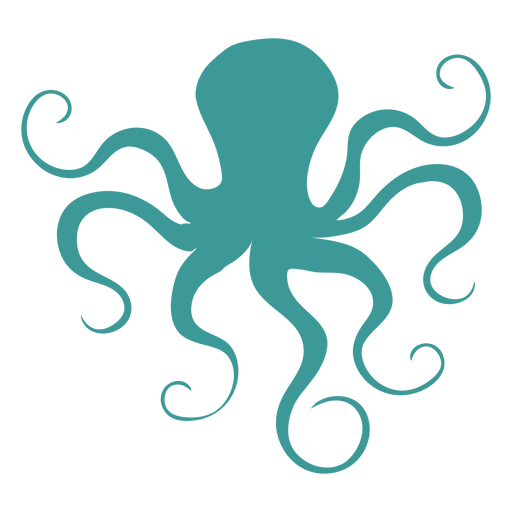 Octopus silhouette green Transparent PNG