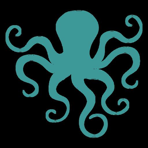 Octopus silhouette green