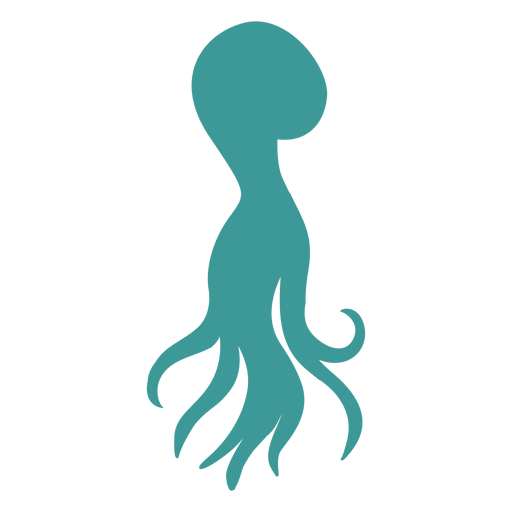 Octopus silhouette green octopus Transparent PNG