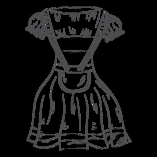 Download Oktoberfest Hand Drawn Dress Transparent Png Svg Vector File