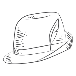 Sombrero dibujado a mano Oktoberfest