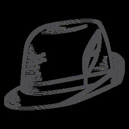 Sombrero Oktoberfest dibujado a mano