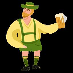 Oktoberfest hombre personaje cerveza